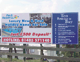 hoardings and site boards